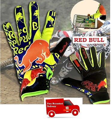 New YELLOW KTM Red Bull Quality Breathable Enduro Gloves KTM Motorcycle cycling