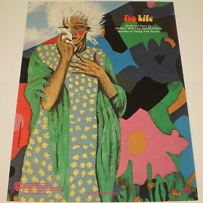 Prince - Pop Life Sheet Music 1985 Official Warner Brothers