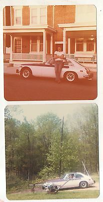 Lot of 2! Man with 1970s Automobile, AMC? Ford? Car Vintage Photographs