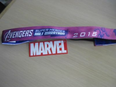 Run Disney Avengers Super Heroes Half Marathon Sweaty Band Marvel Pink Purple