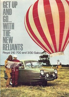 Reliant Regal Saloon 1968-70 UK Market Sales Brochure 3/30 21E-700