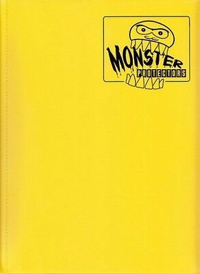 Monster Protectors 9Pocket Yellow Matte Binder. Shipping is Free