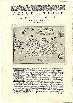Antique maps, S. Giovanni [Porcacchi, 1576]