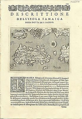 Antique maps, Iamaica [Porcacchi, 1576]
