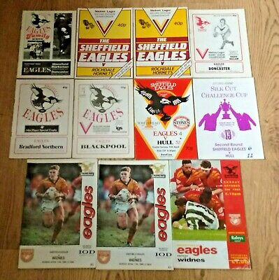 Sheffield Eagles Rugby League Programmes 1984 - 1994