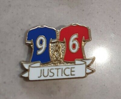 Justice 96 Pin Badge - Blue & Red - Great Gift ideas