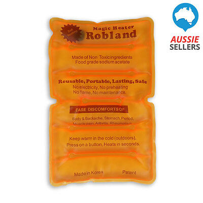 Large Self Heating Heat / Cool Pack for Aches Pain Back / Tummy Australia