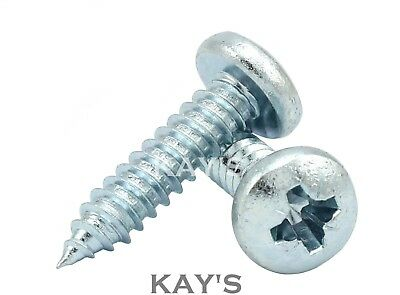 POZI PAN SELF TAPPING SCREWS ZINC PLATED POZIDRIVE TAPPERS No.2,4,6,8,10,12,14