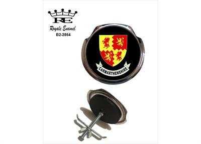 Royale Classic Car Grill Badge + Fittings CARMARTHENSHIRE COAT OF ARMS - B2.2864