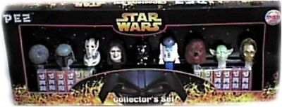 Star Wars Limited Edition PEZ Collector's Set with 9 Star Wars PEZ Dispensers
