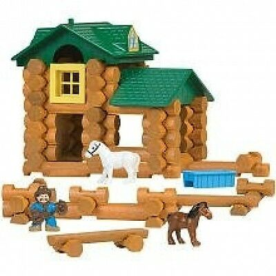 K'Nex Lincoln Logs Sunnyfield Stable Building Set. Delivery is Free