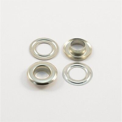 250 Pcs EYELETS Ø12mm,Stainless brass silver,for Plan,Curtains,Leather,Textile