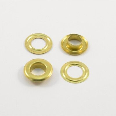 50 Eyelets Ø12mm,Stainless brass,gold,f. Plans,Curtains,Leather,Textile,Fabric