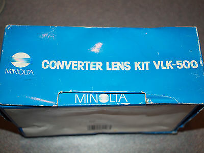 Minolta .65 Wide / 1.5 Tele Converter Kit VLK-500 (VLW-500 & VLT-500)  Movie C-2