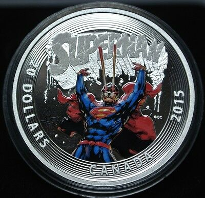 2015 CANADA $20 - 99.99 Fine SILVER Coin - ICONIC SUPERMAN Comic Book Covers #28