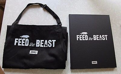 AMC Feed the Beast Promo Book Cookbook and Apron David Schwimmer  Jim Sturgess