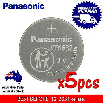 5x PANASONIC CR1632 3v lithium Battery button cell/coin for watches - FAST POST