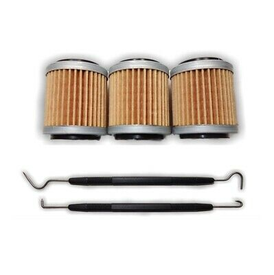 OIL FILTER THREE PACK + TOOL FOR YAMAHA WR250F WR450F YZ250F YZ450F 2009 to 2011