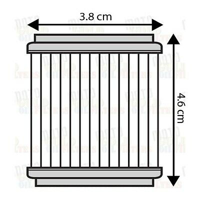 OIL FILTER SIX PACK FOR YAMAHA WR250F WR450F 2003 to 2007