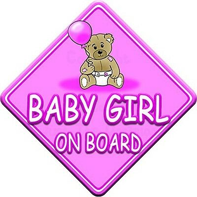 TED BALL * BABY GIRL ON BOARD * car window sign. Delivery is Free