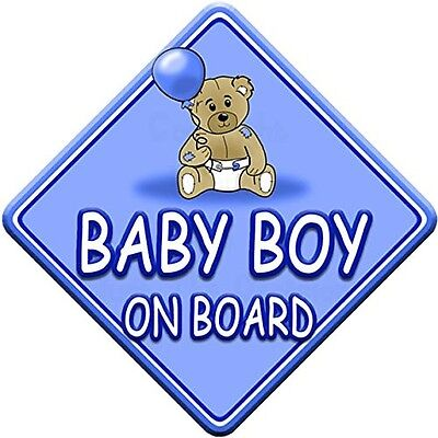 TED BALL * BABY BOY ON BOARD * car window sign. Free Delivery