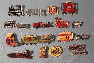 LOT OF VINTAGE 1980's LIONS CLUB PINS TRAIN THEMES OHIO COLORADO MIDDLEBURG HTS