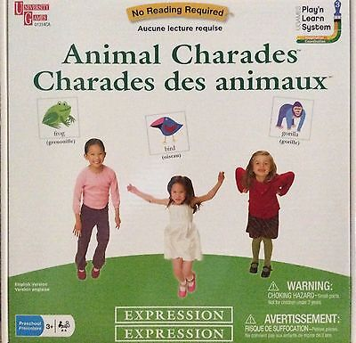 Animal Charades Learning Game by University Games