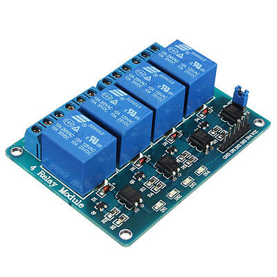 4 Channel 12V Relay Shield Module Board with Optocoupler Power Supply PIC