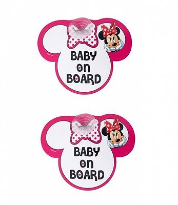 Disney Pink Minnie Mouse Baby On Board Car Signs - 2 Pack. Best Price