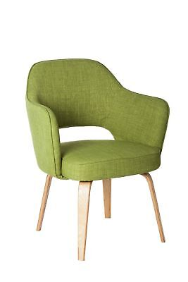 Cafe Lounge TUB CHAIR Furniture Armchair Chairs Visitor Seats KIM Green Fabric