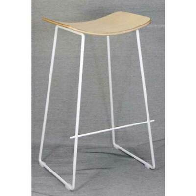 Lily Stool Bar Stool Kitchen Plywood White Metal Frame Replica Y Design