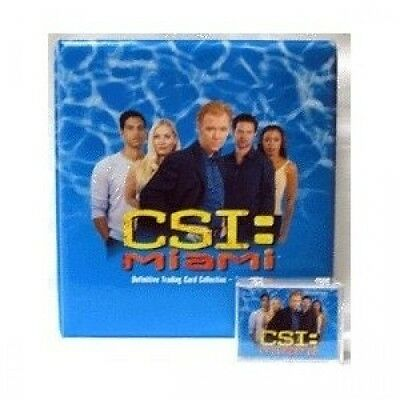 CSI: Miami Series 1 - Trading Card Binder and 100-Card Base Set. Shipping Includ