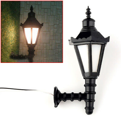 10pcs Model Railway Led Lamppost Lamps Wall Lgihts OO Scale 3V New