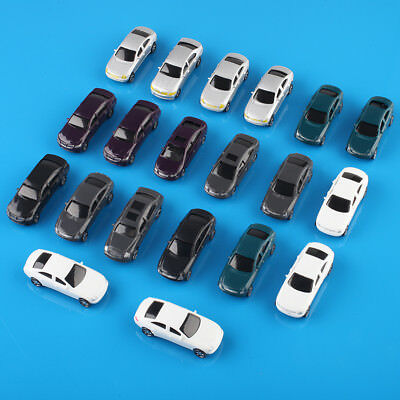 20pcs OO Scale Painted Model Cars Building Train Layout (1:75)