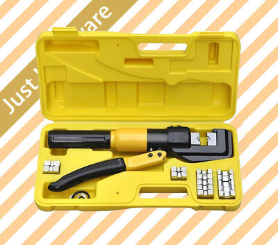 8 Ton Hydraulic Crimper Cable Wire Force Crimping Tool Kit 4mm-70mm