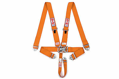STR 5 Point Racing Safety Harness Belt Nascar Buckle SFI Approved F2 F1 Orange