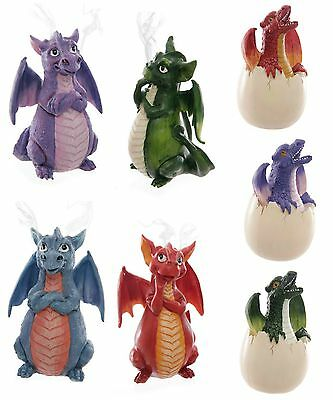 Smoking Dragon Incense Cone Burner Large with free cone red blue green mauve new