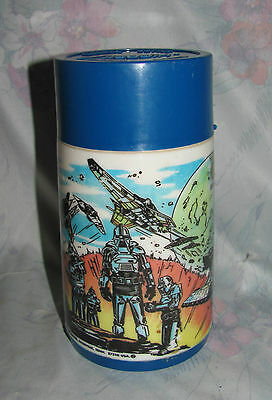 Vintage 1978 Aladdin Battlestar Galactica Thermos in Blue Canadian variation