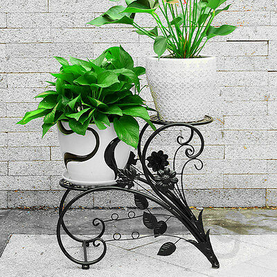 New Metal Lacy Scroll Plant Stand & Garden Oranment Patio Decor Flower Pots Rack