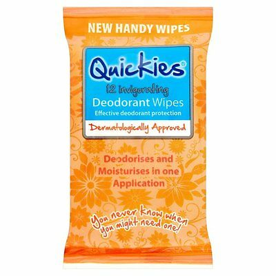 Quickies 12 Invigorating Deodrant Wipes