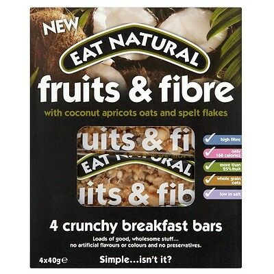 Eat Natural Fruits & Fibre Bar with Coconut, Apricots, Oat & Spelt Flakes (4x40g