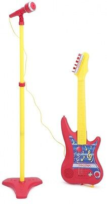 BONTEMPI Electronic Guitar with Stand Microphone. Delivery is Free