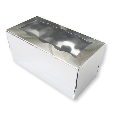 20 Silver 2 Hole Cupcake Boxes, Muffins, Fairy Cakes, Bath Bombs