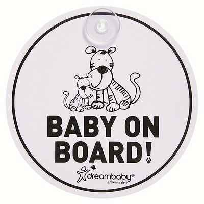 Dreambaby Round Baby On Board Sign Tigers. Free Delivery