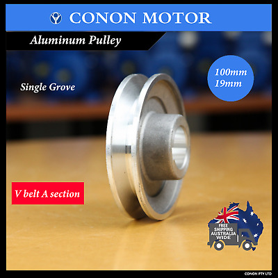 Single-groove Pulley 100mm shaft size 19mm for electric motor