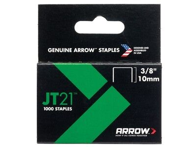 Arrow ARRJT2138S JT21 T27 Staples 10mm (3/8in) Box 1000