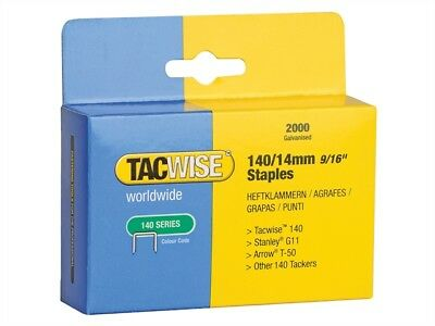 Tacwise TAC0349 140 Heavy-Duty Staples 14mm (Type T50, G) Pack 2000