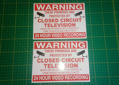 WARNING 24HR CCTV IN OPERATION SIGN - x2 WATERPROOF STICKERS