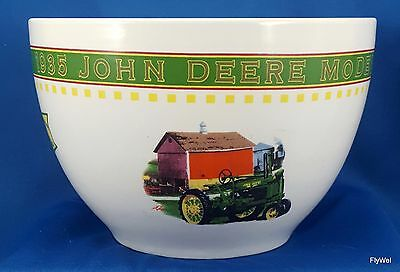 "Gibson John Deere Memories 6.5"" Ceramic Mixing Bowl 1935 Model B Tractor Barn"