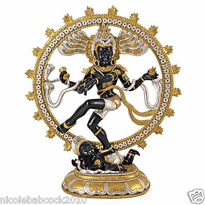 GRAND SCALE 4 FOOT HINDU DEITY DANCING YOGA SHIVA RELIGIOUS Sculpture  - 33 LBS